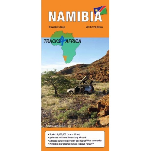 Tracks4Africa Traveller Paper Map of Namibia