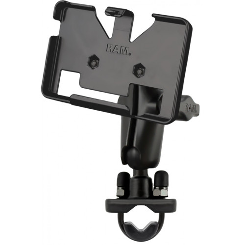 RAM Handlebar Rail Mount with Zinc Coated U-Bolt Base for the Garmin nuvi 1300, 1310T, 1350, 1350T, 1370T, 1390, 1390T, 2455LT,