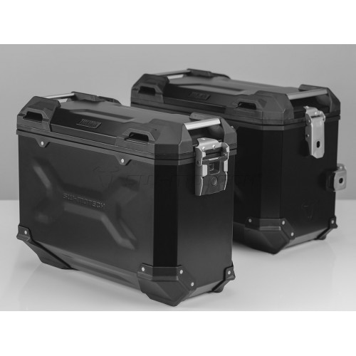 SW-MOTECH TRAX ADVENTURE Alucases 45L Left and 37L Right - BLACK Pannier Kit