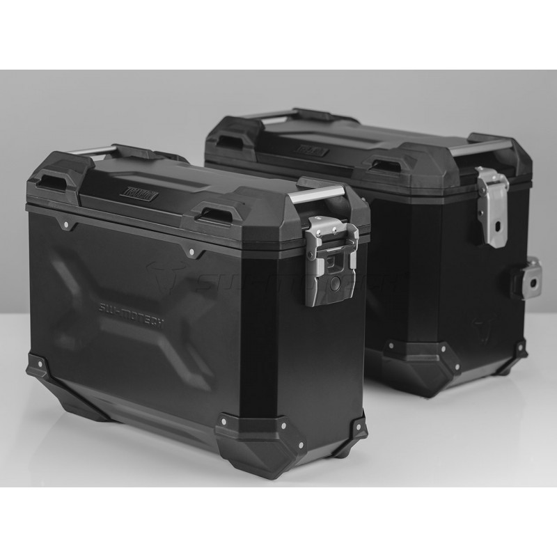 SW-MOTECH TRAX ADVENTURE Alucases 45L Left and 37L Right - BLACK Pannier Kit