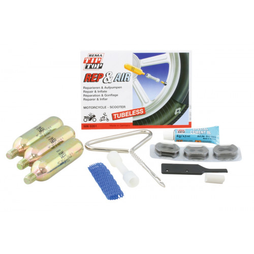 Rema Tip Top Tyre Repair Kit Tubeless - All Tubeless Motorcycles