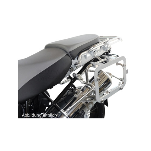 SW-MOTECH TRAX® EVO Silver Sidecase Adapter Kit for original BMW GS 1200 Adventure. Sold In pairs