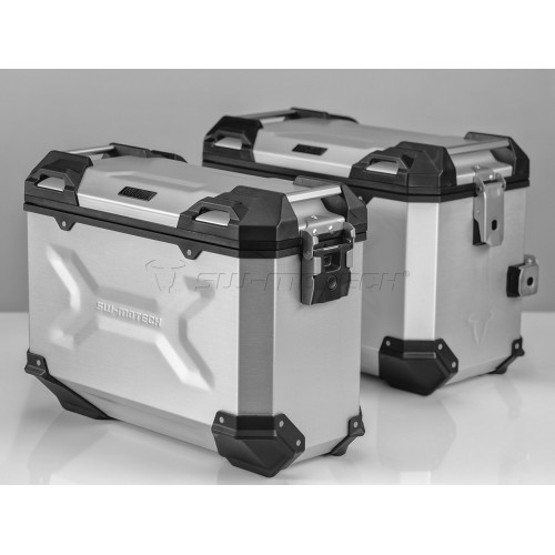 SW-MOTECH TRAX ADVENTURE Alucases 45L Left and 37L Right - SILVER Pannier Kit