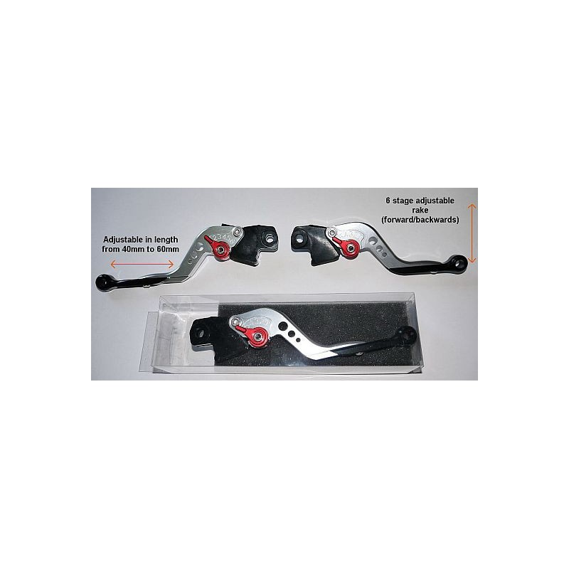 Triumph Tiger 800 / 800 XC Adjustable Two finger brake and clutch levers (Pair)