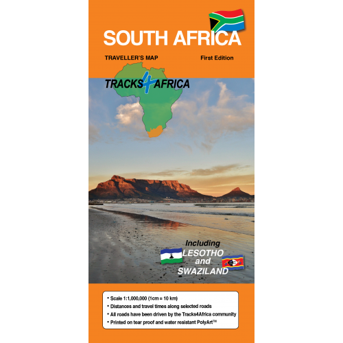 Tracks4Africa Traveller Paper Map of South Africa Tracks4Africa Traveller