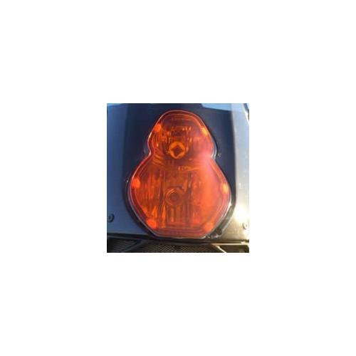 Wild@Heart Orange Headlight Cover for KTM 950/990 Adventure